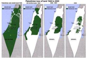 Israel-Palestine Land Map